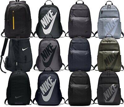 Nike Men Unisex Backpack Rucksack Bag Black Sportswear 2018 Gym Travel Kids Grey