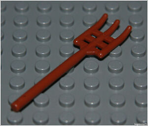 Lego castle x1 brown pitchfork peasant farm 7189 tool for Pitchfork tool for sale