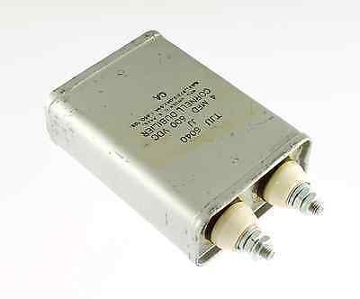New 4mfd 600vdc Application Oil Hermetically Sealed Capacitor Cde 4uf 600v Usa