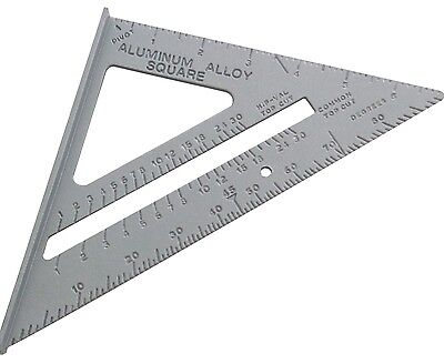 """6"""" 150mm Aluminium Roofing Square Level Ruler Easy To Read Scale 0 to 180-Amtech"""