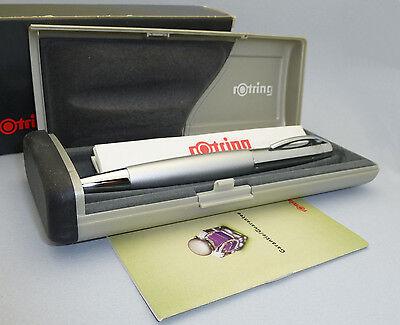 Silver Rotring Initial Fountain Pen, M Steel Nib, New in Box