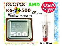 K6-3 NEW 500//128//100 Socket 7-Super 7 ACTUAL PICTURES Plus K6-2 500 MHz CPU