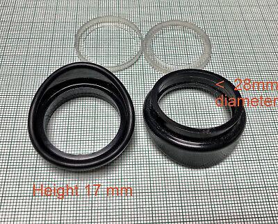 New Microscope Eyepiece Rubber Eye Guards Eye Shield For 28mm Diameter Eyepiece