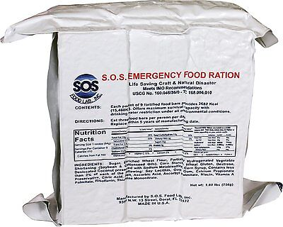 SOS 3600 CALORIE EMERGENCY SURVIVAL RATION FOOD BARS DISASTER MEAL- JUST BAKED!!