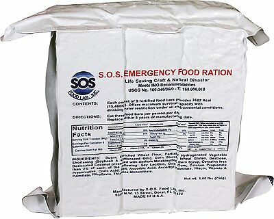 Sos 3600 Calorie Emergency Survival Rations  Food Bars Hurricane Disaster Meals