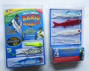 New 110 Pieces Banjo 006 Minnow Fishing System Soft Plastic Fishing Lures Set