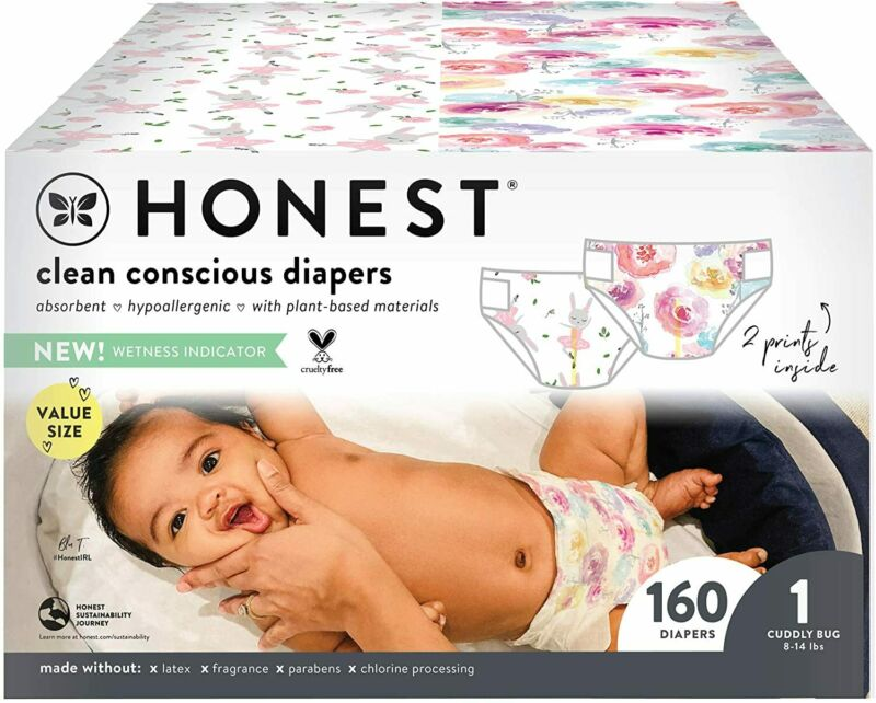 The Honest Company Super Club Box Diapers Size 1, 160 Count Packaging may vary
