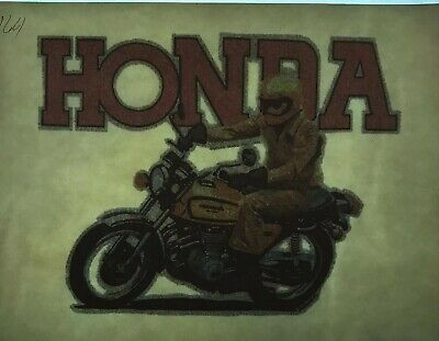 Vintage Iron On Honda 1977 Solar Trans Inc. Heat Transfer Glitter Cb Model