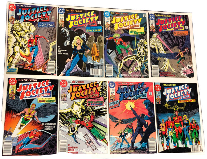 JUSTICE SOCIETY OF AMERICA #1-#8 COMPLETE SET DC 1991 (8 BOOK LOT)