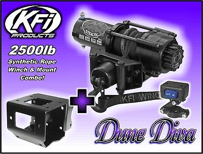 2500Lb Kfi Stealth Winch Mount Combo   Yamaha Big Bear 400 2007 2012