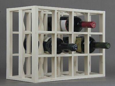 Victoria Wine Rack 12 bottles Solid Wood  Whitewashed Countertop 12 Bottle Countertop Wine