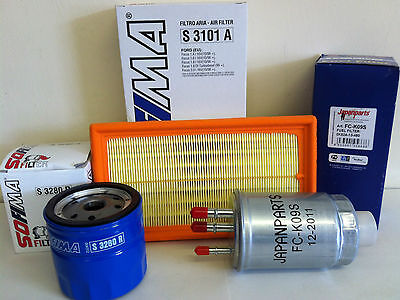 FOR FORD TRANSIT CONNECT 1.8 TDCI DIESEL SERVICE KIT OIL AIR FUEL FILTER
