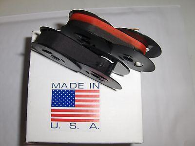 Remington Junior Riter Typewriter Ribbon 2 Pack - (1) Solid Blk + (1) Blk/ Red