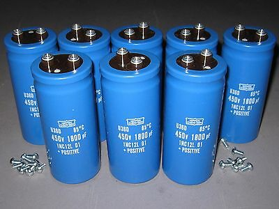 Lot Of 8 450v 1800uf Electrolytic Capacitors High-voltage New In Box