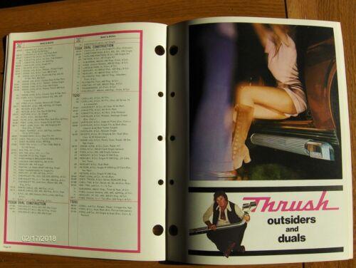 NOS ORIGINAL 1973 THRUSH PROVEN PERFORMANCE EXHAUST SYSTEMS CATALOG