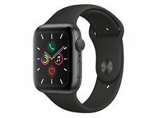 Apple Watch Series 5, 44 mm, Aluminiumgehäuse spacegrau, Sportarmband schwarz