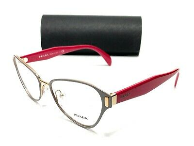 Prada VPR 58U EFX-1O1 Grey/Gold Women's Authentic Eyeglasses Frame 53-17