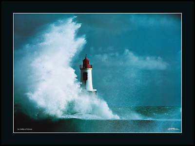 Erik Brin Les Sables d Olonne Poster Kunstdruck im Alu Rahmen schwarz 60x80cm