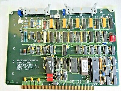 Becton Dickinson 03-20095-04 Status Card Fac Scan Flourescence Cytometer Board