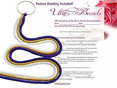 Cord Of Three Strands Wedding (Divinity Unity Wedding Braids, Cord Of Three Strand, Unity Braids® 30+)