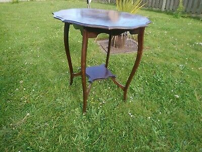 Edwardian Mahogany Occasional Table with Pie Crust top