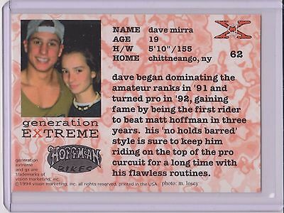 Sweet 1994 Generation Extreme Dave Mirra Bmx Card  62   Multiples Available