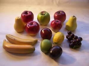 Vintage Ceramic Fake Fruit  x CAN POST 14 Pieces Shabby Chic AMAZ Wynyard Waratah Area Preview