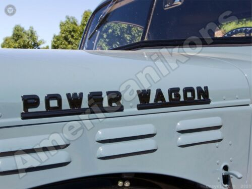 Dodge Power Wagon New Metal Sign: Front End Logo Close Up Pictured