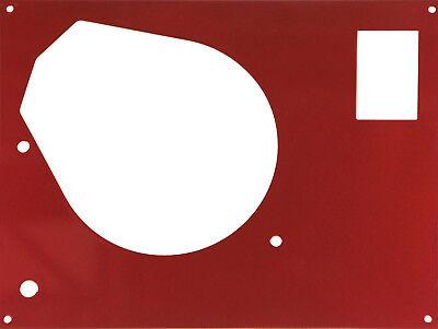 PIASTRA COPERTURA FRONTALE PER THORENS TD SME BRACCIO A rosso scuro metallizzato, usato usato  Spedire a Italy