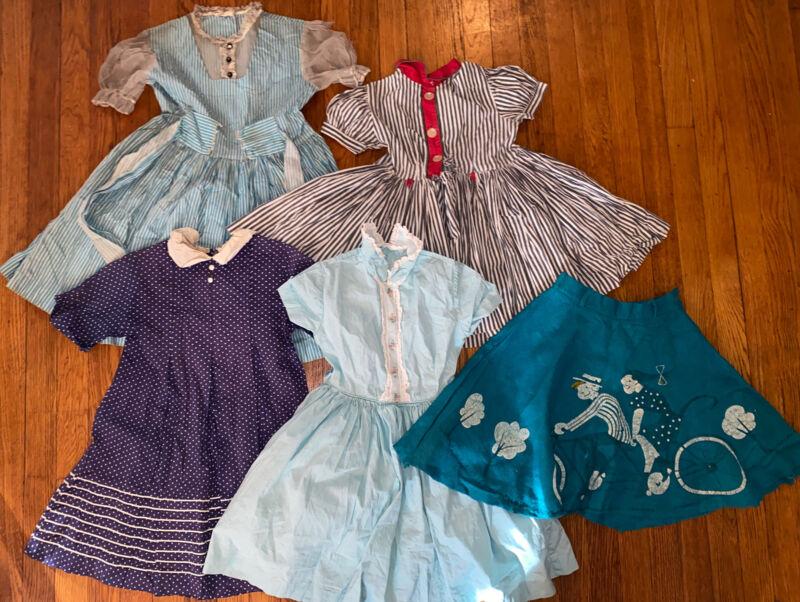 Vintage Child Girl 1950s 1960s Dress Skirt Lot