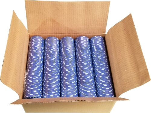 500 Blue Diamond Mold Clay Composite Poker Chips 11.5gr  GREAT DEAL *