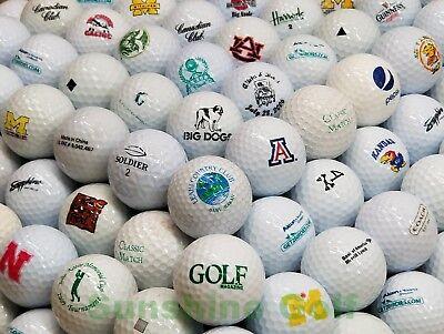 Grade Golf Balls - 50 Miscellaneous LOGO Mixed Grade Golf Balls - FREE SHIPPING