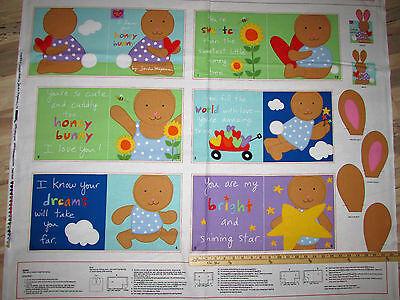 Bunny Honey Child Costume - Huggable Loveable Honey Bunny Soft Children's Book Panel Fabric 1 Yard  #3359P