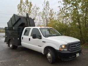 2001 Ford F-350 Diesel Tree Service Truck with Dump