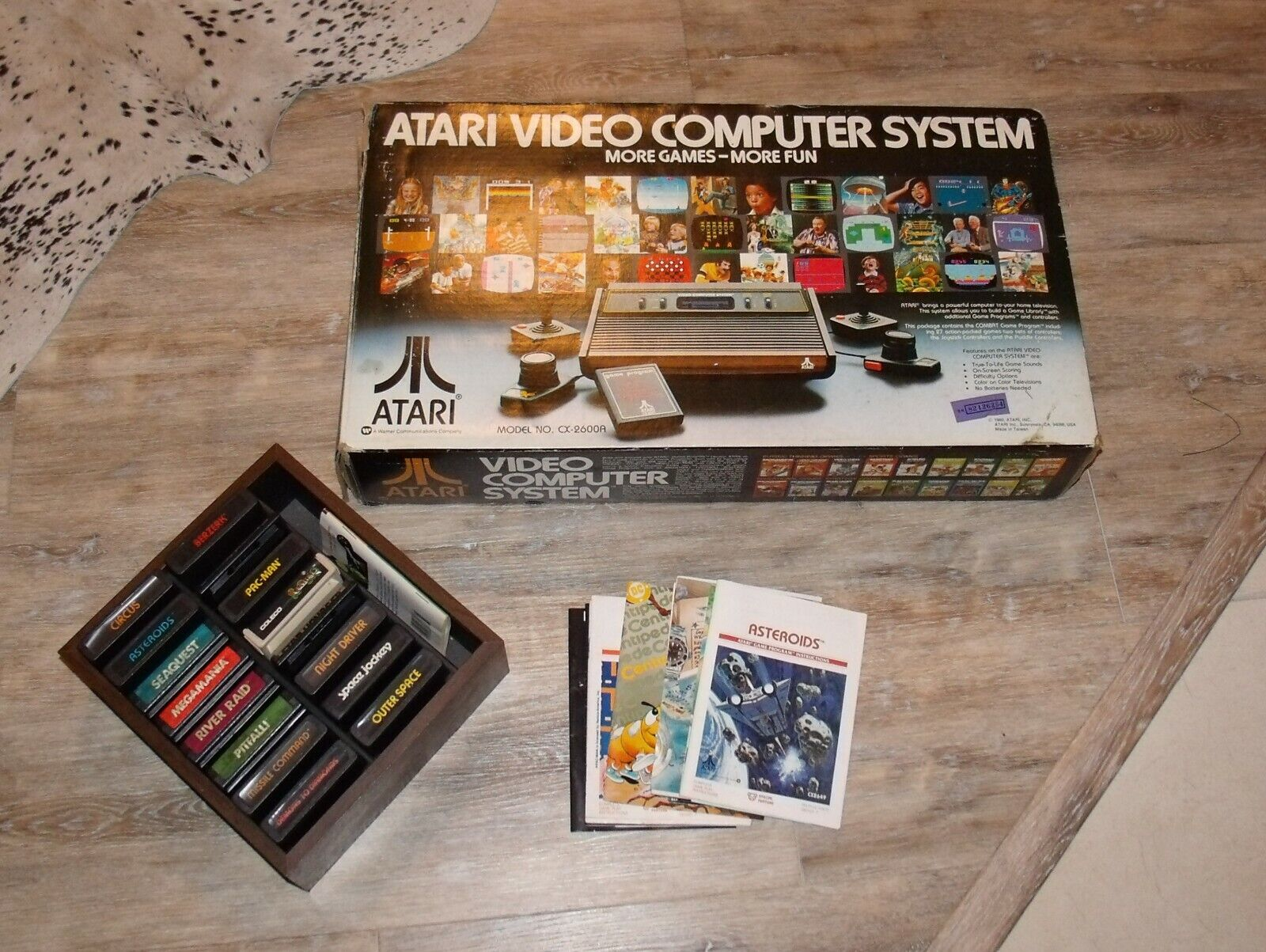Computer Games - Atari Video Computer Game System with Games 2600A