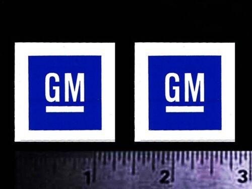 GM - GENERAL MOTORS - Set of 2 Original Vintage Racing Decal/Stickers CHEVY OLDS
