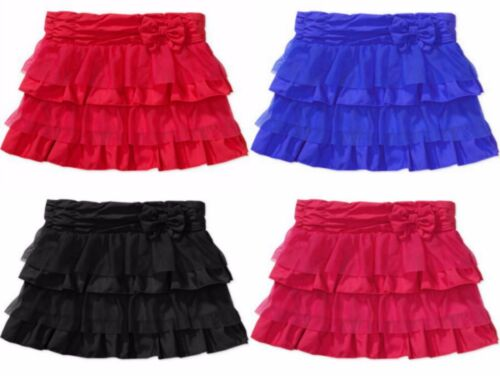 Healthtex Baby Toddler Girls Ruffle Skirt with 3D Bow Blue, Pink, Red, Black 3T