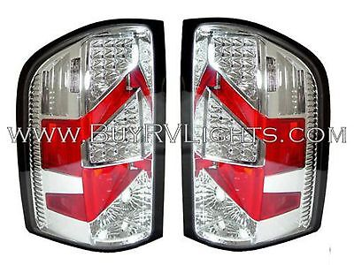 TIFFIN ALLEGRO 2013 PAIR CHROME LED TAIL LAMPS TAILLIGHTS REAR RV