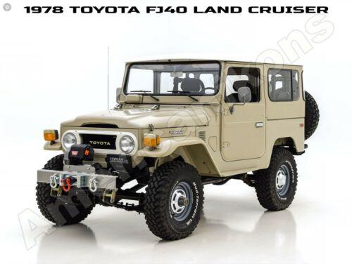 1978 Toyota FJ40 Land Cruiser Collectible New Metal Sign: Beautiful Restoration!