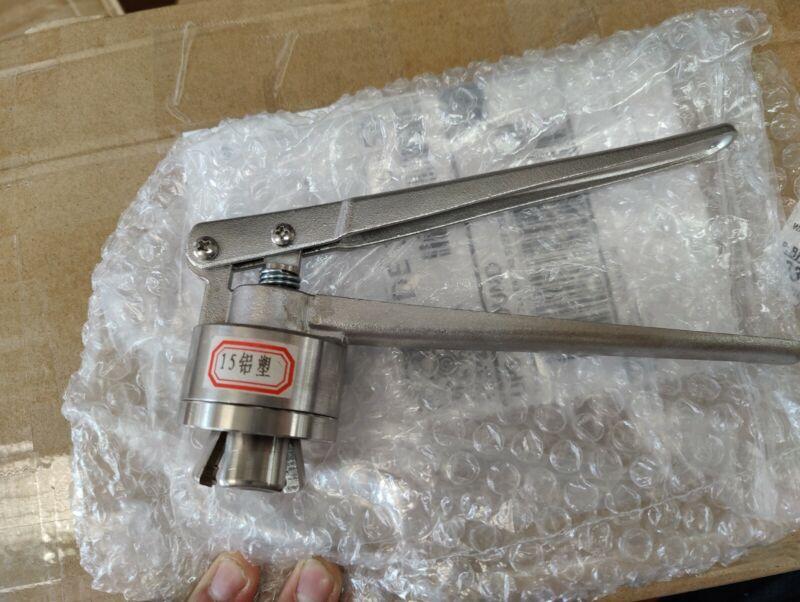 Hand Crimper Sealer Cap Vial Capper Manual Vial Seal Kit Full/Plastic 15mm