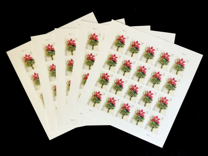 FOREVER STAMPS 100 (CONTEMPORARY BOUTONNIÈRE 5 SHEETS = 100)