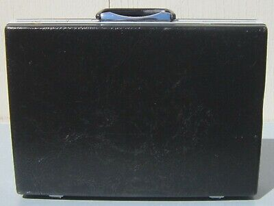 Vintage SAMSONITE Hard Shell BLACK BRIEFCASE Attache Case LAPTOP 18 x 13 x 3.75