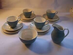 Art Deco Royal Doulton Desert Star Trio x 4 Milk Jug Sugar Bowl T Wynyard Waratah Area Preview