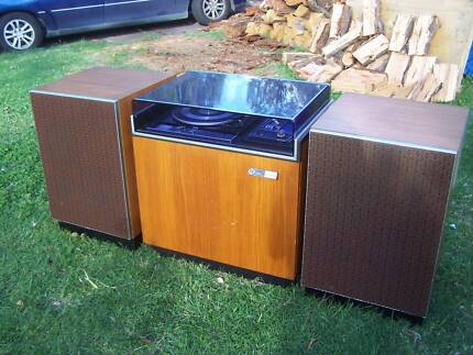 PYE record player, amplifier, speakers and storage! MELB.