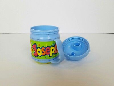 Custom Sippy Cups (Boys Sippy Cup with Name Joseph Custom Blue 12 Months to 3T   )