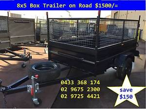 SALE BOX TRAILER 8X5 HI SIDE 600MM CAGE 12 MONTHS PRIV REGO $1500 Hawkesbury Area Preview