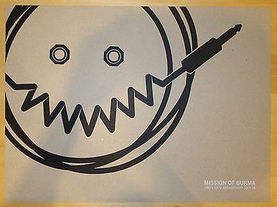 2005 Mission of Burma - Austin Silkscreen Concert Poster s/n by Ferg