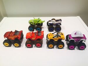 Blaze and The Monster Machines SIX die cast trucks.