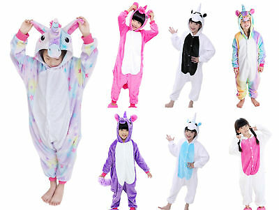 Kids Unicorn One-Pieces Pajamas Costume for Halloween Cosplay