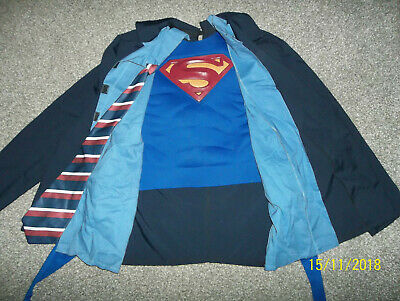 Clark Kent Adult Costume Superman Muscle Chest Mens Jacket Halloween~Standard SZ